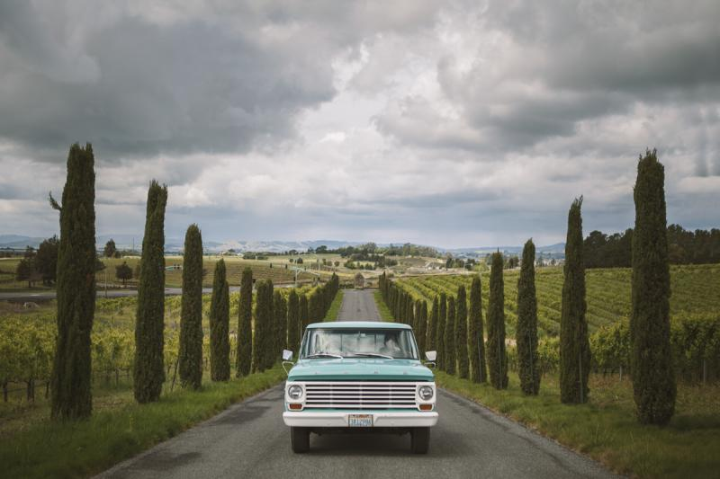 Jamieson Ranch - cadillac in vineyard