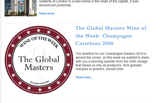 The Global Masters wine of the week: Champagne Castelnau 2006 - July 2019